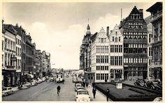 De Suikerrui te Antwerpen in de jaren 1950, met een tram van lijn 2 die er nog steeds zijn einhalt heeft.