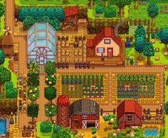 Stardew Farms, Stardew Valley Farms, Forest Map, Forest Hill, Stardew Valley Layout, Stardew Valley Tips, Tiny Farm, Farm Layout, Animal Crossing Villagers