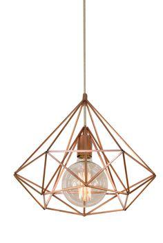 Himmeli Light Diamond Cage pendant Geometric Copper  matte Chandelier  Industrial Pink Gold Original Himmeli Art Panselinos by panselinos on Etsy https://www.etsy.com/listing/226916227/himmeli-light-diamond-cage-pendant