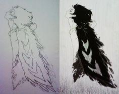 Anime: O Castelo Animado. Personagem:  Howl. desenho.
