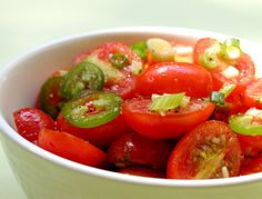 Spiced Marinated Tomatoes