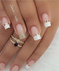 100 Beautiful wedding nail art ideas for your big day - wedding nails bride nails nail art romantic nails pink nails inspiration Simple Nail Art Designs, Winter Nail Designs, Gorgeous Nails, Pretty Nails, Cute Nails, Beautiful Nail Art, Romantic Nails, Wedding Nails Design, Nail Wedding