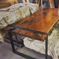 Black Walnut Stain Hue and Grain Style for Nightstands, Bed Frame, Stationary Wall Shelves (above Nightstands), and Mirror Frame