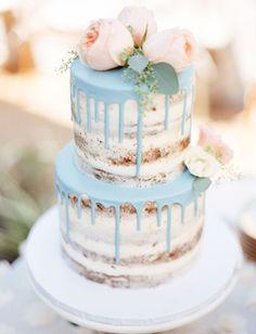 40 потрясающих свадебных тортов с подтеками  - The-wedding.ru