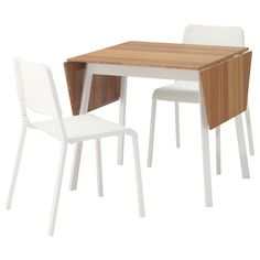 TEODORES/IKEA PS 2012 Table and 2 chairs Bamboo white/white  - IKEA