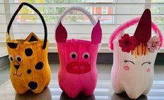 Diy Halloween Decorations, Halloween Diy, Diy For Kids, Crafts For Kids, Kindergarten Portfolio, Diy And Crafts, Arts And Crafts, Plastic Bottle Crafts, Bookmarks Kids