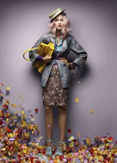 "❀ Flower Maiden Fantasy ❀ beautiful art fashion photography of women and flowers - Valerija Erokhina in ""Flora Plan"" By Troyt Coburn For Vogue Australia"