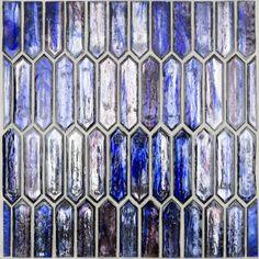 Komorebi Blue Bayou Spring Glass Tile Blue Glass Tile, Blue Tiles, Glass Mosaic Tiles, Purple Glass, Wall Tiles, Mosaic Diy, Splashback Tiles, Kitchen Backsplash, Mediterranean Tile