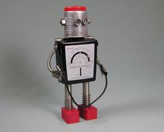 FLASHOLDER  Found Object  Robot Sculpture by NutzenBoltsWorks