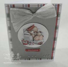 Docrafts Forever Friends Christmas Card Forever Friends Cards, Christmas Cards, Xmas, Tatty Teddy, Handmade Christmas, Handmade Cards, Decoupage, Card Ideas, Goodies