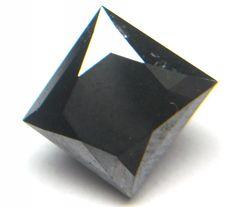 2.50 Cts Natural Real Beautiful Black Princess Cut Diamond