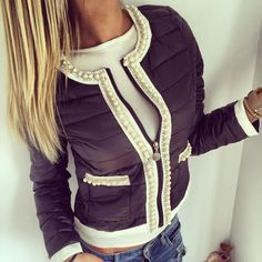 Find More Down & Parkas Information about 2015 Fashion Women's Winter Jackets Peals White Patchwork Sim Coat Cute o Neck Shiort Parkas Outerwear Women Jackets,High Quality jacket pin,China jacket dresses for weddings Suppliers, Cheap jacket women plus size from Fashion Magical on Aliexpress.com
