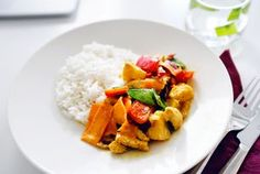 colorful coconut chicken