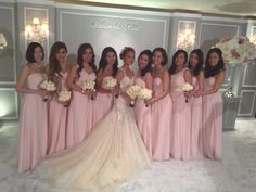 ABHL Bride, Ms Vivian Chan, in Galia Lahav Giselle gown with her bridesmaids.