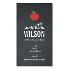 Teachers apple business card business cards teacher and business quality product chalkboard apple teacher business card chalkboard apple teacher business card lowest price colourmoves Images