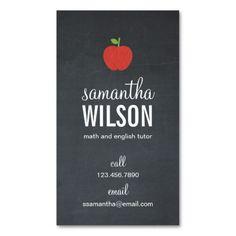 Substitute Teacher Business Card Template | Teaching Business ...