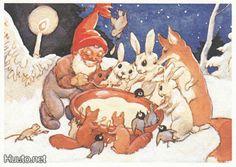 Koivu Christmas Tale, Christmas Cards, Xmas, Christmas Illustration, Happy Day, Elves, Gnomes, Troll, Martini