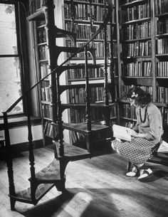 size: Photographic Print: High School Girl Reading at the Newburyport Free Library by Alfred Eisenstaedt : Cuisine Library Posters, Vintage Library, Reading Habits, Woman Reading, Reading People, Girl Reading Book, Reading Books, Book Writer, Book Nerd