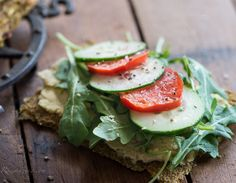 Tomato Cucumber Chickpea Sandwiches. Recipes: Veggie Bread & Chick Pea Spread @Susan Powers.com