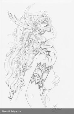 Southern Nightgown: Mask - Pencils by Dawn-McTeigue.deviantart.com on @DeviantArt