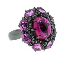 Rubellite Tourmaline and Pink Sapphire