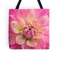 Beautiful Pink Dahlia Flower tote bag