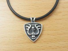 STUDIO GHIBLI Laputa Castle In The Sky Silver Necklace Emblem Black