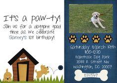Dog Birthday Invitation by jaebirddesign on Etsy