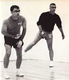 John Young and Gene Cernan play handball. Looks a little like Chaffee to me, but wdik Apollo Spacecraft, Project Gemini, Project Mercury, Johnson Space Center, Engineering Degrees, Apollo Program, Nasa History, Space Photography, Astronauts In Space