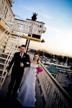 We love the detail on this historic riverboat - it makes for a great wedding ceremony location! {Potomac Riverboat Company}