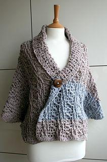 Luzpatterns.com crochet wrap to cardigan for fall! #crochetpattern
