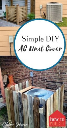 Trendy Ideas For Home Projects Simple Ac Unit Cover, Ac Cover, Outdoor Projects, Easy Diy Projects, Home Projects, Project Ideas, Backyard Projects, Diy Ac, Outdoor Living
