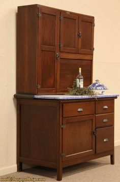 Attractive I Put A Bid In For A Wilson Hoosier Cabinet Like This At An Estate Sale