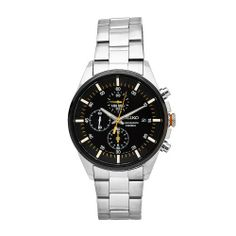 Seiko Men's SNDC85 Stainless Steel Analog with Black Dial Watch Seiko. $129.50. Water-resistant to 100 M (330 feet). Scratch resistant hardlex. Case diameter: 40 mm. Stainless steel case. Quartz movement. Save 63%!