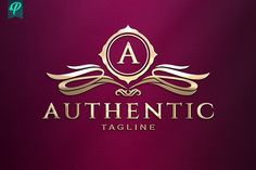 Authentic - Classy Vintage Logo by PenPal on @creativemarket