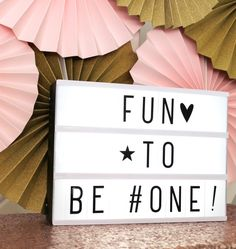 Fun to be one! #lightbox #lightboxdecoration #firstbirthday