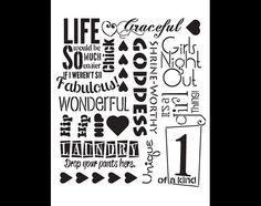 It's A Girl Thing-Background Word Stencil-Select por StudioR12