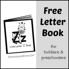 Letter Z Songs and Rhymes – free letter book!