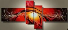 Acrylic Art, Canvas Art Painting, Abstract Lines Painting, Large Wall – Art Painting Canvas Red Abstract Art, Oil Painting Abstract, Hand Painting Art, Abstract Lines, Oil Paintings, Painting Canvas, Painting Metal, Peacock Painting, China Painting