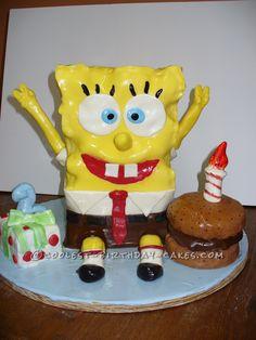 Coolest Sponge Bob Cake... This website is the Pinterest of birthday cake ideas