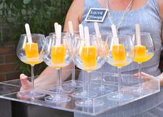 Popsicles in prosecco at the Mighty Happy book launch for Gretchen Rubin's new book Happier at Home
