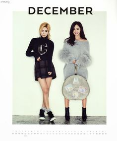 ユリ&ヒョヨン 少女時代公式カレンダー Part1 ʕ•ᴥ•ʔ 1512
