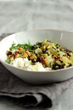 Ananas-Linsen-Curry mit Cashewkernen