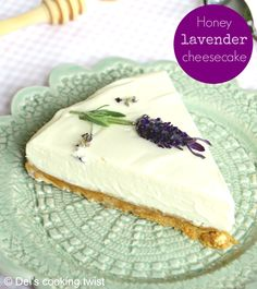 Honey Lavender Cheesecake. Both sweet and refreshing, this cheesecake will virtually take you to Provence in the south of France! | Del's cooking twist