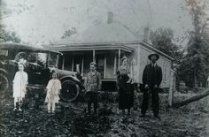 Home place of W.C. and Callie Rose North East of Ada, Oklahoma close to the Canadian river. The family picture was taken in 1918 and left to right Lucille, (mother) Lois, Earl,Callie holding Helen, and W,C, (Bill) Rose. Scratching on picture made by Katherine born after picture was made and was mad she was not in picture.# 6 child was William (Pete) Ray