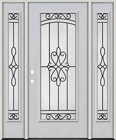 Full Lite Fiberglass Prehung Door Unit with Sidelites #293  sc 1 st  Pinterest & Door Emporium - | grill work | Pinterest | Doors and Glass doors