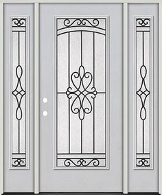 Wrought Iron Door Grill Design 2018 Full Lite Fiberglass Prehung