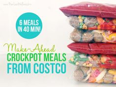 Make-Ahead Crockpot Meals from Costco