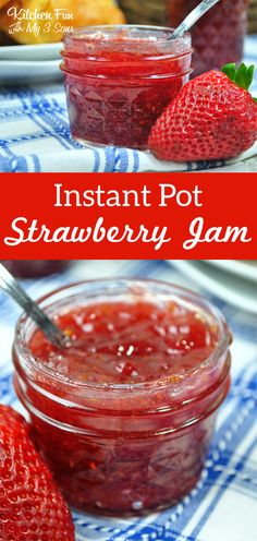 How to easily make your own Instant Pot Strawberry Jam! #homemade #jam #strawberry #instantpot