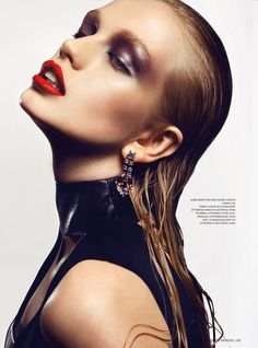 Diana Farkhullina Goes High Gloss for Kevin Sinclairs LOfficiel Ukraine July Shoot